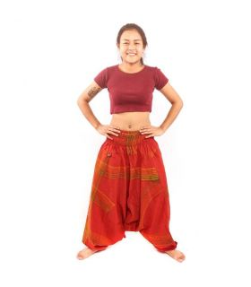 Thai aladdin pants red