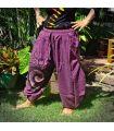 Pantalones del harén Pantalones Capri magenta