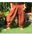 Boho capri pants with spiral pattern