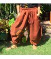Pantalones boho capri con patrón de espiral