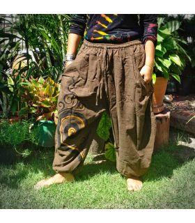 Pantalones capri del harén con patrón de espiral