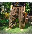 Harem capri pants with spiral pattern