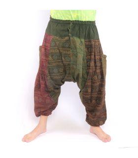 Pantalones de harén Om símbolos budistas