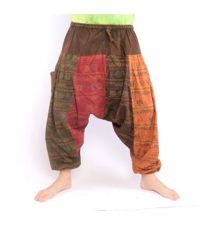 Harem pants Om Buddhist symbols
