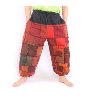 Pantalones de patchwork lavados a la piedra