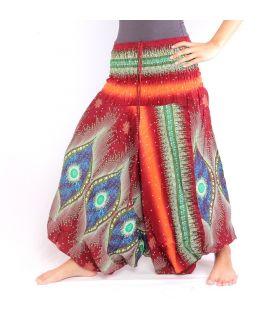 Harem pants jumpsuit for women Peacock