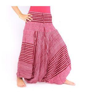 pantalón de harén con patrón de rayas