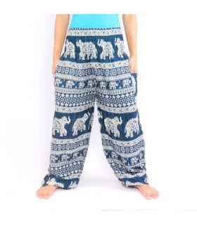 Pantalon d'éléphant bleu