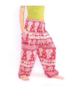 Elephants harem pants red