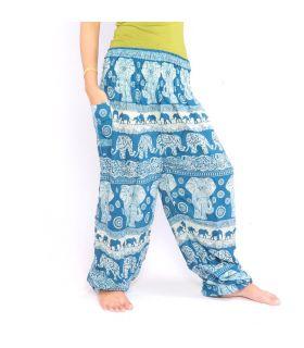 Pantalons de harem d'éléphants bleu