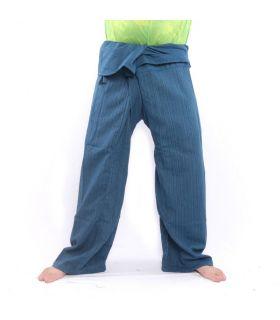 Pantalon de pêcheur thaïlandais Cottonmix extra long - bleu