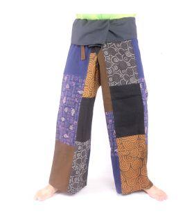 Thai fisherman pants patchwork multicoloured - OTOP fair trade