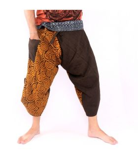 3/5 Samurai Thai fishing trousers - cotton