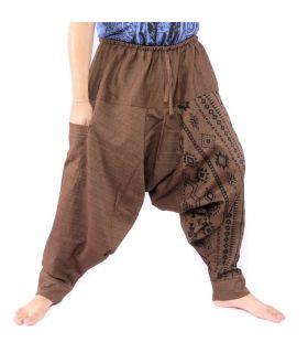 Harem pants Aztec pattern