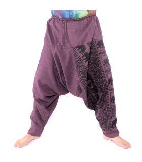 Pantalones de harén patrón elefante