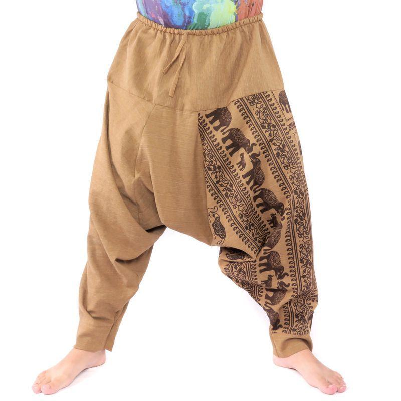 Harem pants elephant pattern