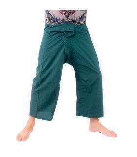 Thai fishing pants viscose - turquoise