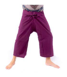 Pantalon de pêcheur thaïlandais en viscose - magenta