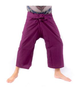 Pantalones de pescador tailandés viscosa - magenta