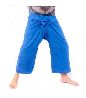 Pantalones de pescador tailandés - viscosa azul