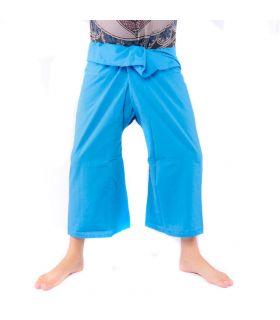 Pantalones de pesca tailandeses - viscosa azul