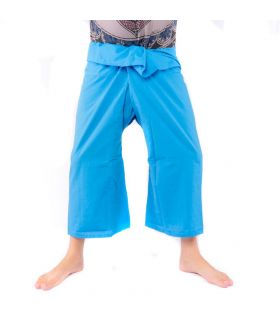 Thai fishing pants - blue viscose