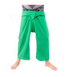 Pantalones de pesca tailandeses de viscosa - verde