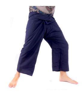 Pantalones de pescador tailandés - viscosa azul oscuro
