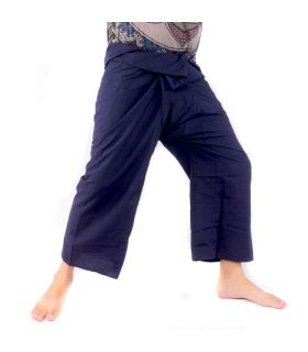 Thai fisherman pants - dark blue viscose