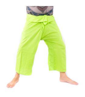 Pantalones de pesca tailandeses - verde lima