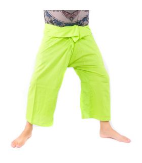 Thai fishing pants - lime green