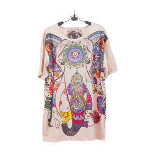 """Camiseta """"Espejo"""" Ganesha Elefante Hippie Talla L"""