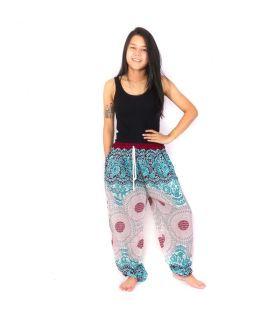 Pantalon sarouel Jogger Mandala rose bleu