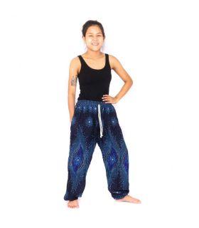 Pantalones de harén jogger azul noche oriental