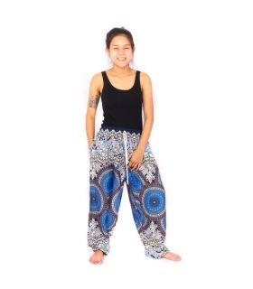 Harem pants Mandala blue
