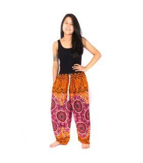 Harem pants fiery mandalas