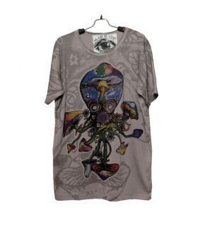 """Mirror"" Squid, Octopus, Mushroom T-Shirt Size M"