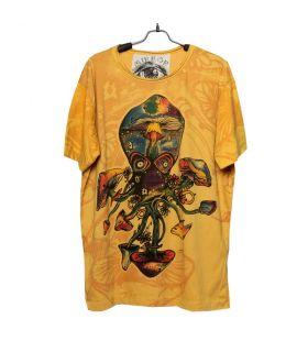 "T-Shirt ""Mirror"" Calamar, Pieuvre, Champignon Taille M"