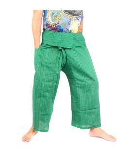 Pantalon de pêcheur thaïlandais Cottonmix - coton - vert