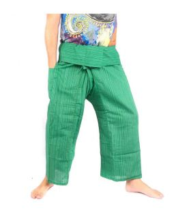 Pantalones de pescador tailandés Cottonmix - algodón - verde