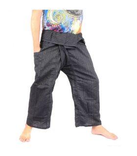 Pantalon de pêcheur thaïlandais Cottonmix - coton - noir