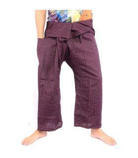 Pantalones de pescador tailandés Cottonmix - algodón - púrpura