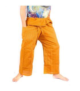 Pantalon de pêcheur thaïlandais Cottonmix - coton - brun clair
