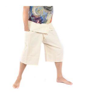 3/4 short Thai fisherman pants - undyed - cotton