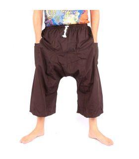 Pantalones cortos boxer de pescador tailandés - marrón