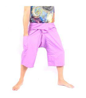 Pantalones de pesca 3/4 tailandés viscosa púrpura