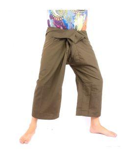 Pantalon de pêche thaïlandais en viscose - vert