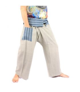 Thai fisherman pants hand woven - mineral colors