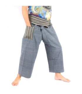 Fisherman trousers hand woven - mineral colours
