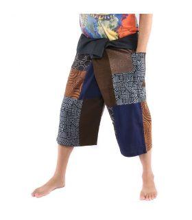 Short à patchwork Thai Fischerman